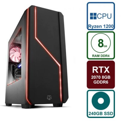 PC Gaming RTX 2070 8GB / Ryzen 3 1200 3.4GHz / 240GB SSD / 8GB RAM