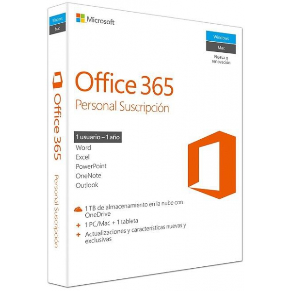 Microsoft Office 365 Personal PC/Mac/Tablet 1L/1A