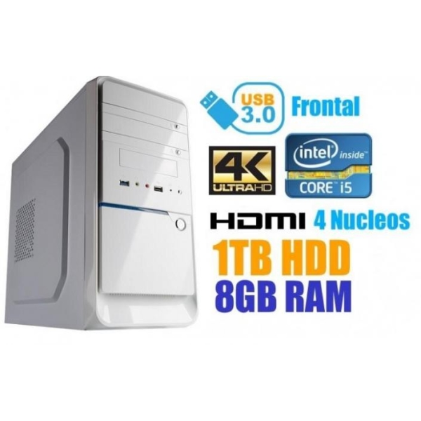 PC Blanco I5 Potente 1TB / 8GB DDR3 / HDMI / USB3.0