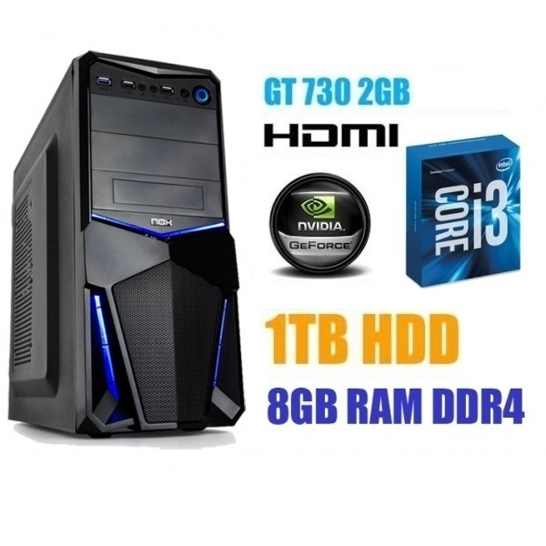PC Gaming i3 GeForce GT 730 2GB GDDR5